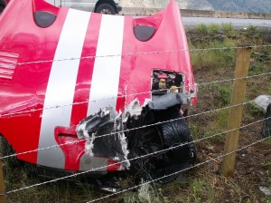 Viper after Head-on with Semi